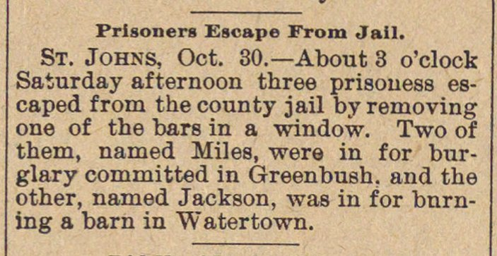 Prisoners Escape From Jail image