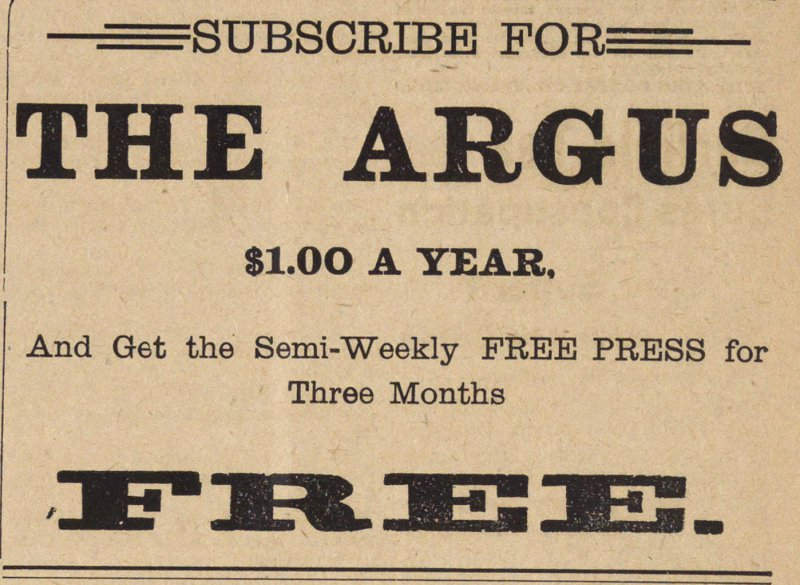 Subscribe For The Argus image