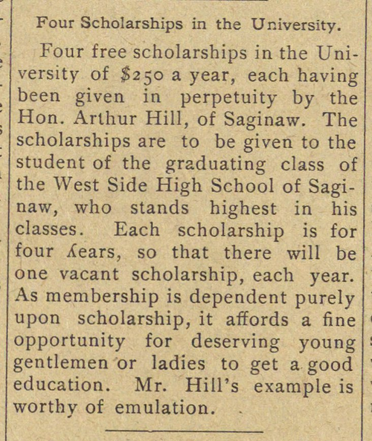 Four Scholarships In The University image