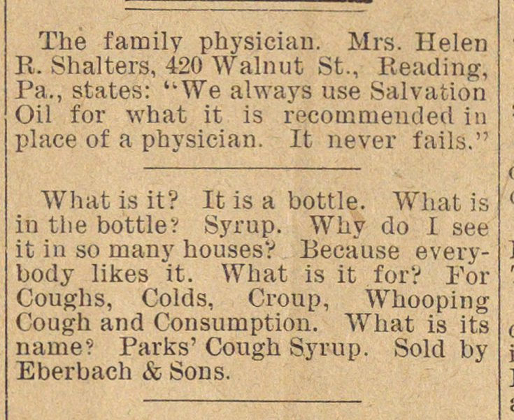 The family physician. Mrs. Helen R. Shal... image