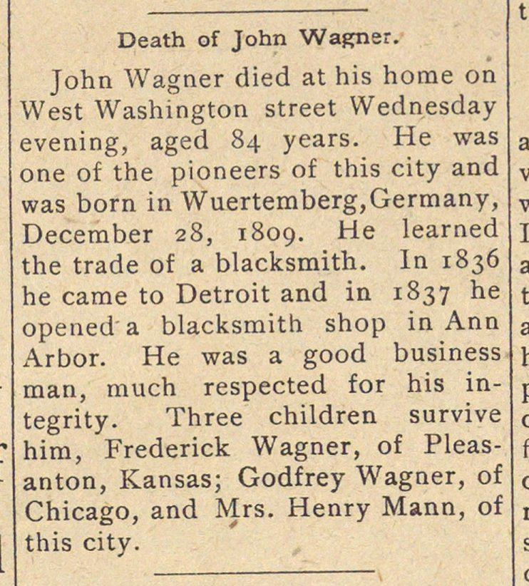 Death Of John Wagner image