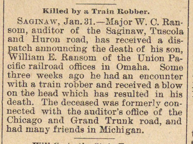 Killed By A Train Robber image