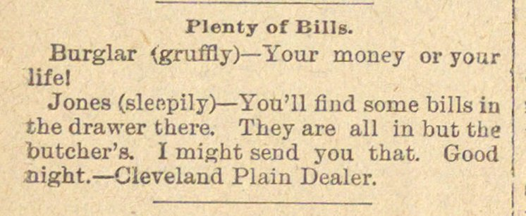 Plenty Of Bills image