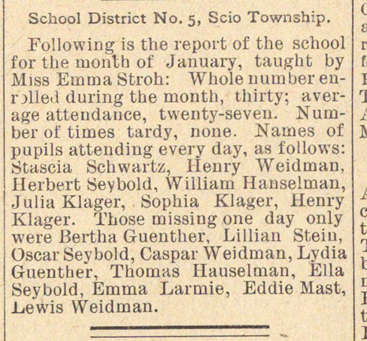 School District No. 5, Scio Township image