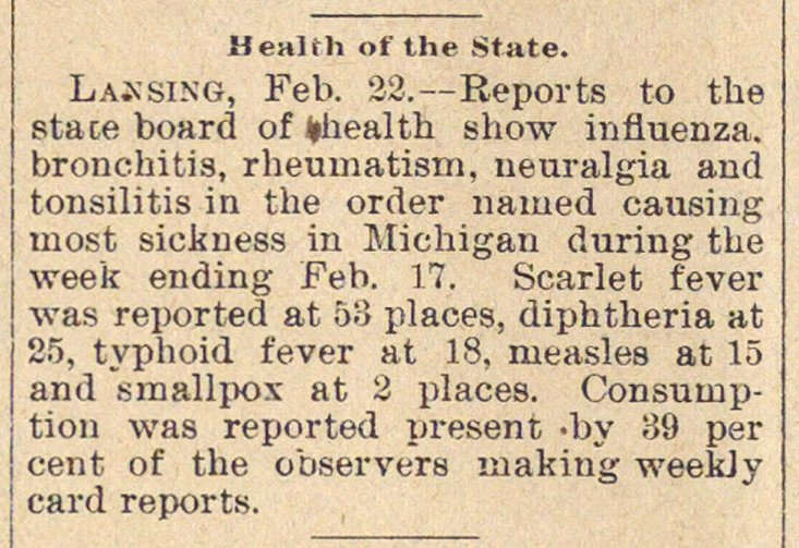 Health Of The State image