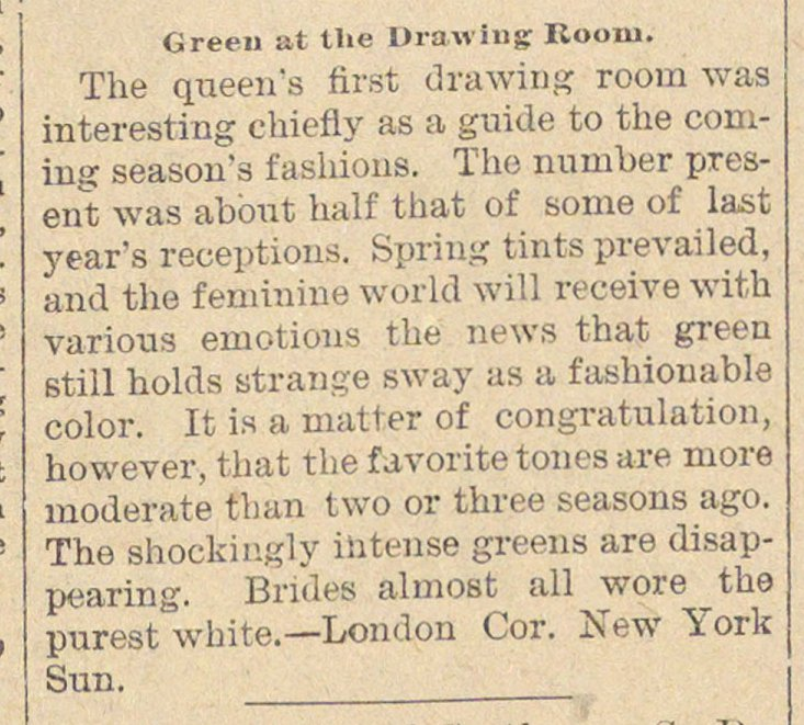 Green At The Drawing Room image