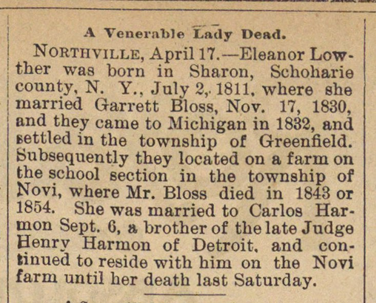 A Venerable Lady Dead image
