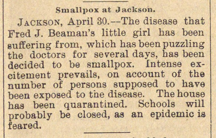 Smallpox At Jackson image