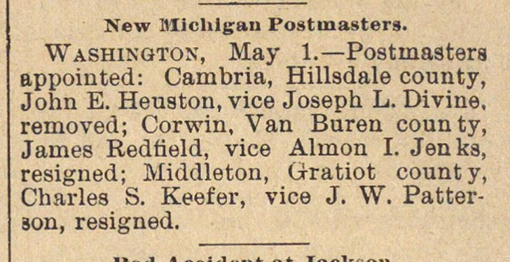 New Michigan Postmasters image