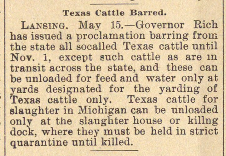 Texas Cattle Barred image