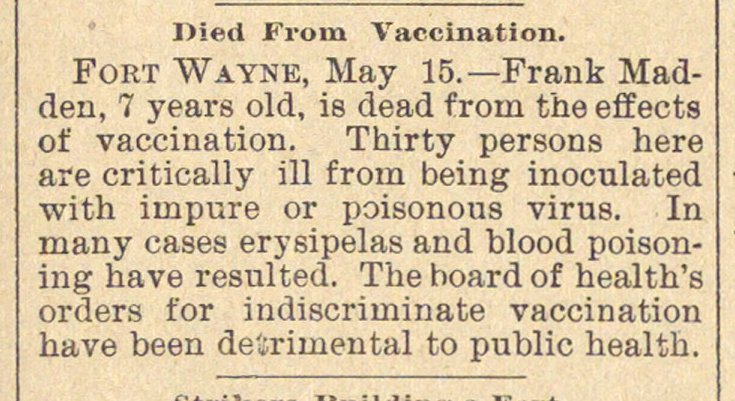 Died From Vaccination image