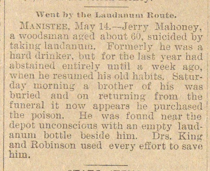 Went By The Laudanum Route image