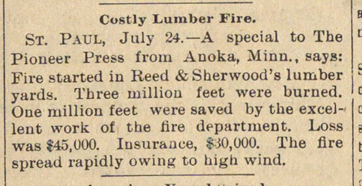 Costly Lumber Fire image