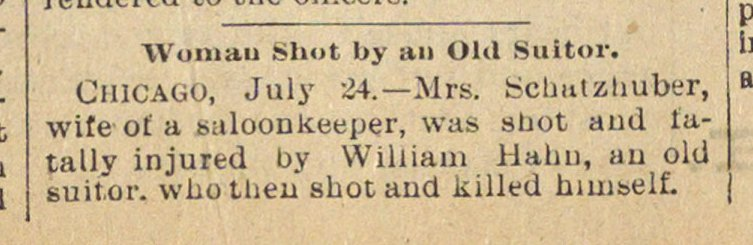 Woman Shot By An Old Suitor image