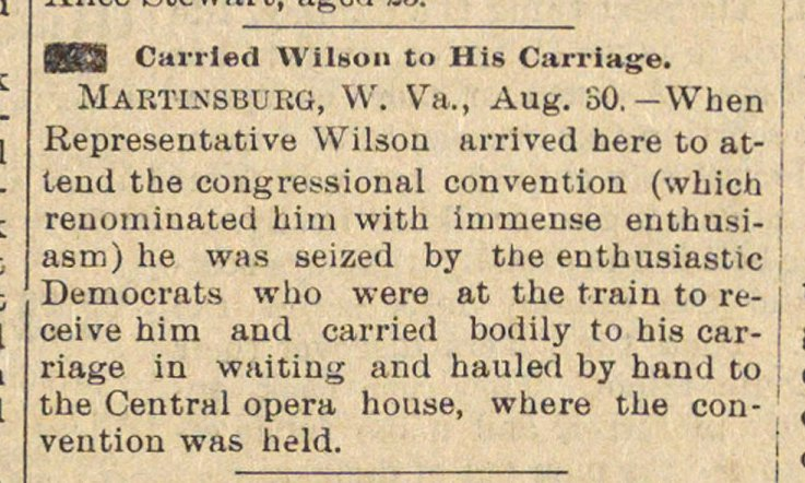 Carried Wilson To His Carriage image