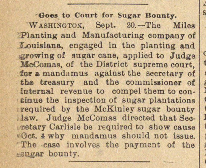 Goes To Court For Sugar Bounty image