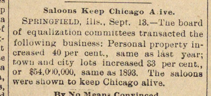 Saloons Keep Chicago Alive image