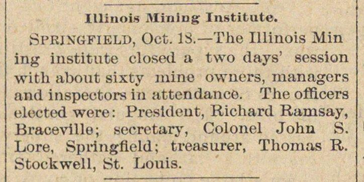 Illinois Mining Institute image