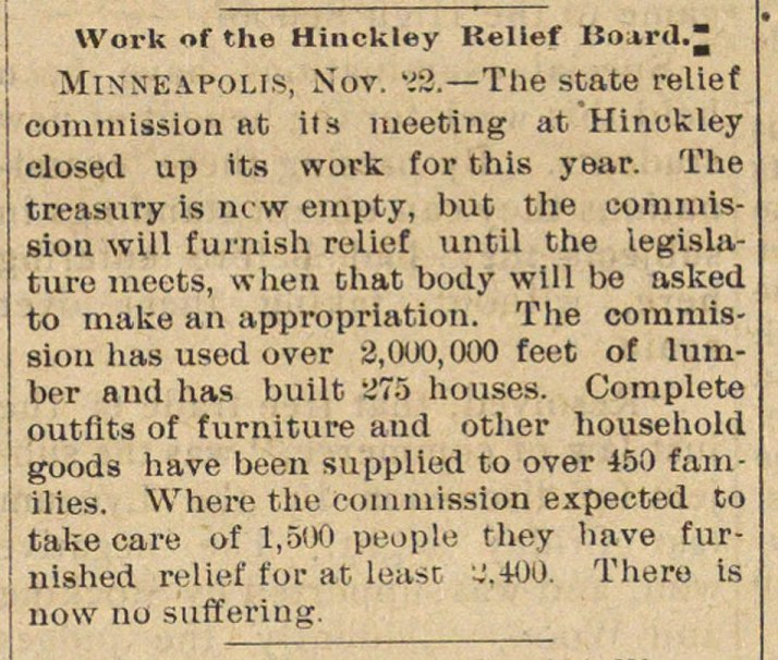 Work Of The Hinckley Relief Board image