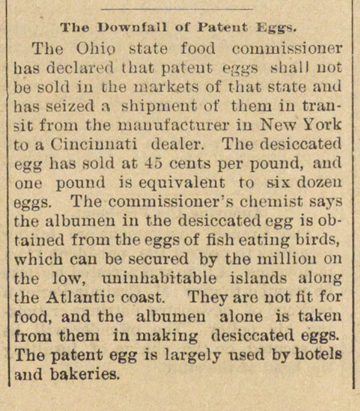The Downfall Of Patent Eggs image