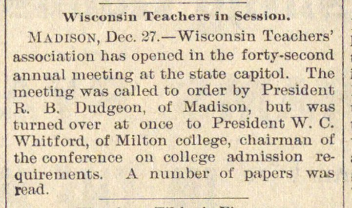 Wisconsin Teachers In Session image