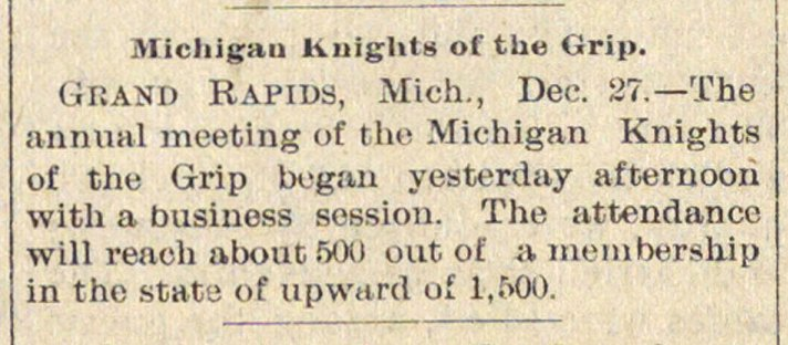Michigan Knights Of The Grip image