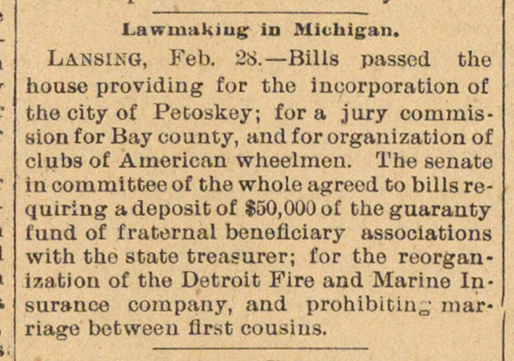 Lawmaking In Michigan image