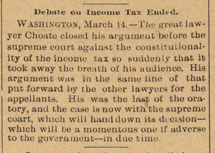Debate On Income Tax Ended image