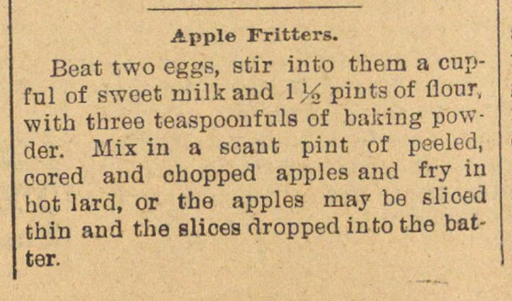 Apple Fritters image