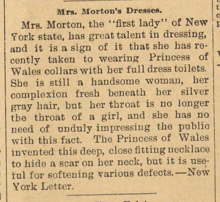 Mrs. Morton's Dresses image