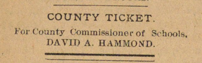 County Ticket image