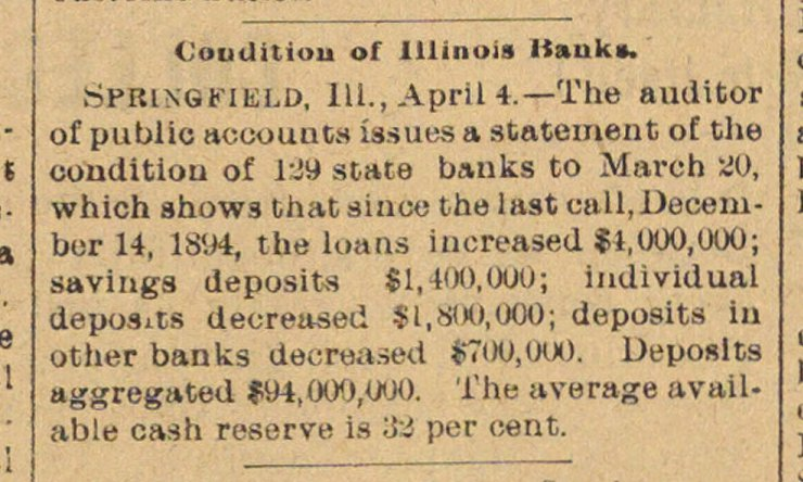 Condition Of Illinois Banks image