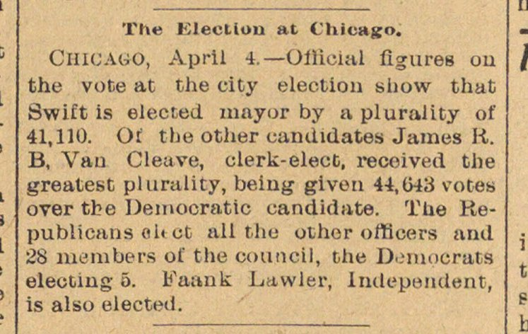 The Election At Chicago image