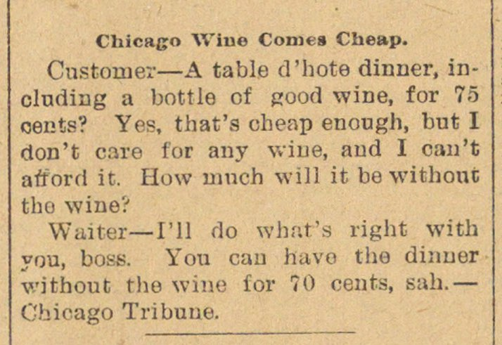 Chicago Wine Comes Cheap image