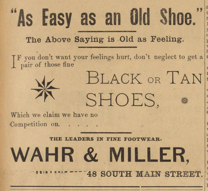 """as Easy As An Old Shoe."" image"
