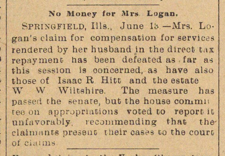 No Money For Mrs. Logan image