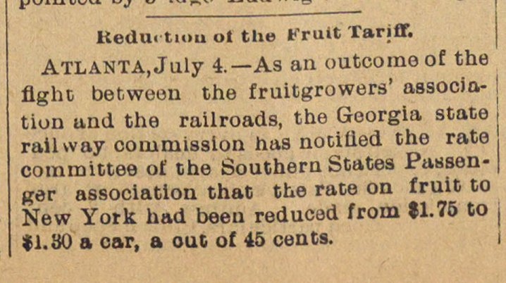 Reduction Of The Fruit Tariff image