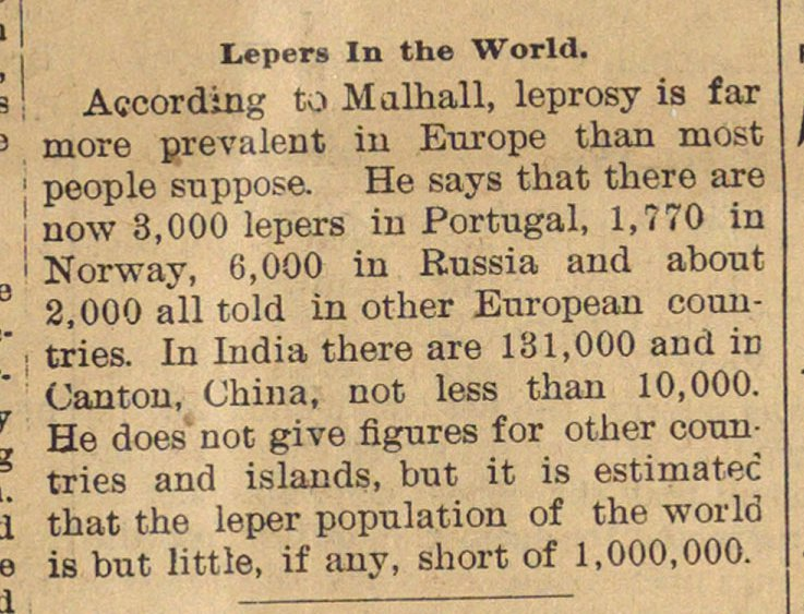 Lepers In The World image