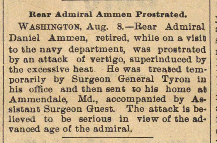Rear Admiral Ammon Prostrated image