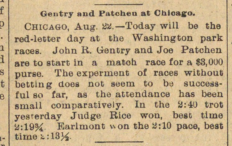 Gentry And Patchen At Chicago. image