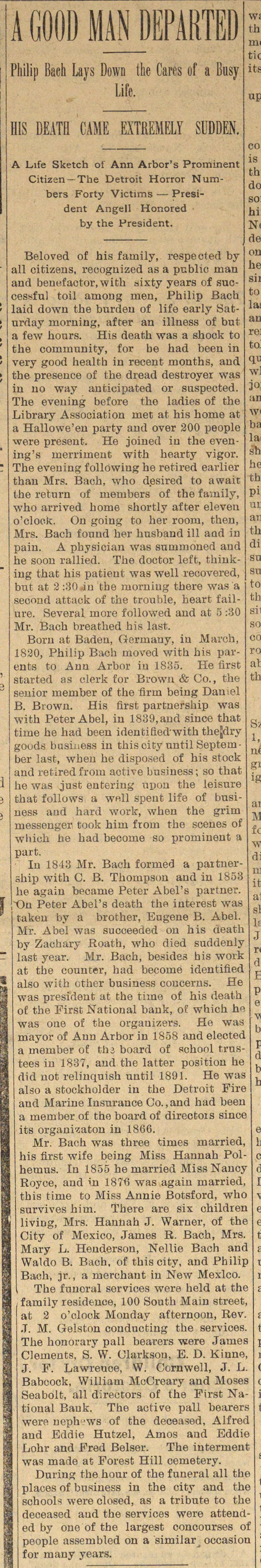 A Good Man Departed image