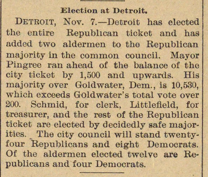 Election At Detroit image