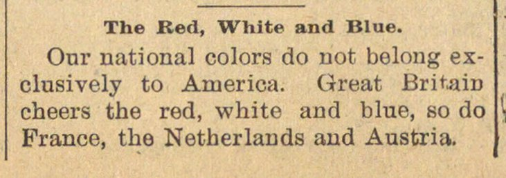 The Red, White And Blue image