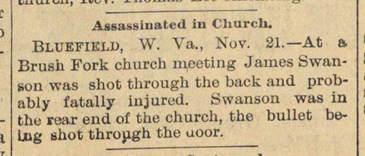 Assassinated In Church image