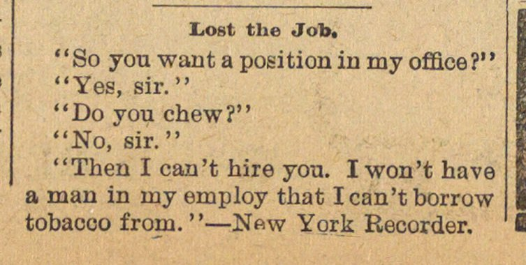 Lost The Job image