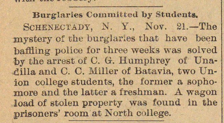 Burglaries Committed By Students image
