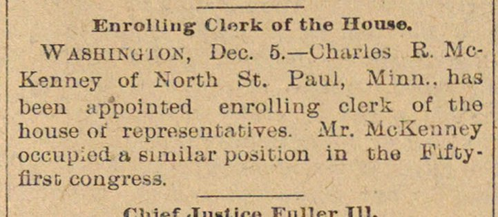 Enrolling Clerk Of The House image