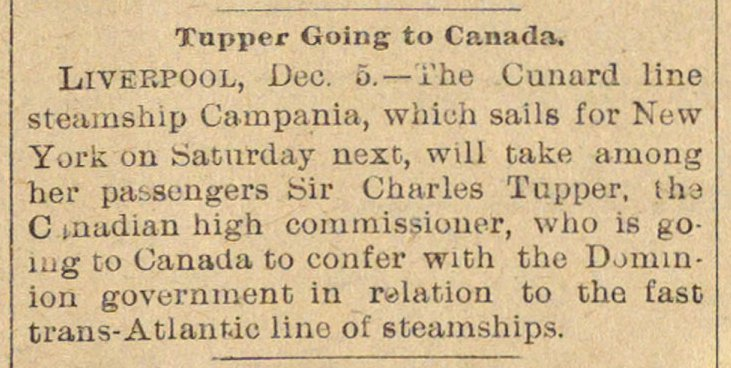 Tupper Going To Canada image