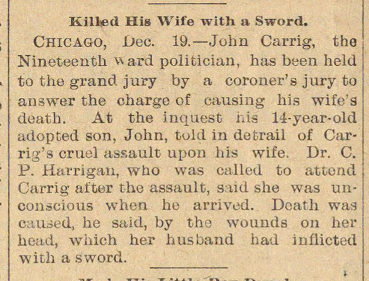 Killed His Wife With A Sword image