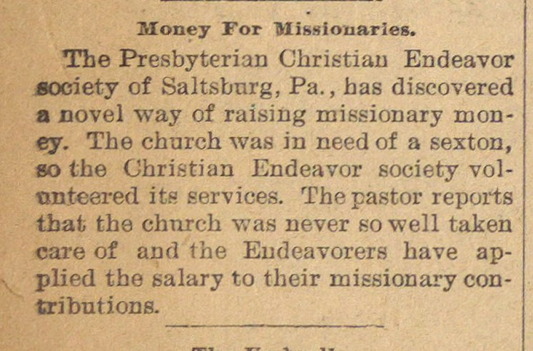 Money For Missionaries image